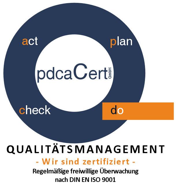 Logo mit Schriftzug GmbH und QM 20111222